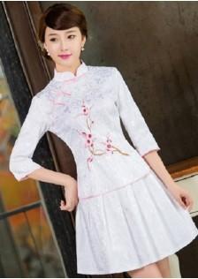 JNS1125 cheongsam white .