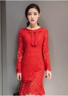 JNS2198 dress red