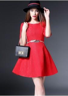 JNS3776 dress red *