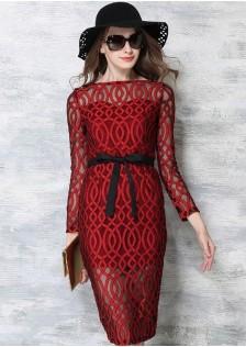 JNS751 dress red