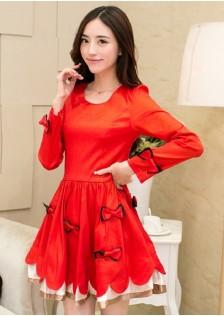 JNSH63 dress red.