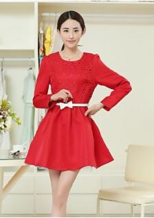 JNSH26 dress red