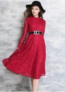 JNS5868 dress red *