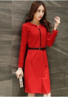 JNS8145 dress red.