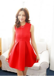 JNS5068 dress red .