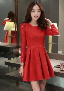 JNS625 dress red .