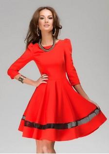 JNS0187 dress red .