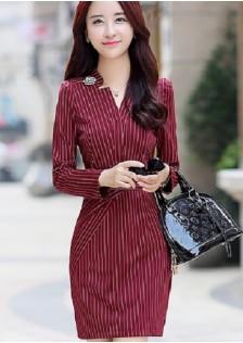 JNS6698 dress red.