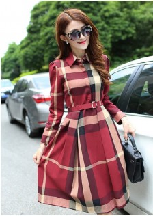 GSS922 dress red