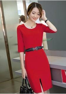JNS8207 dress red