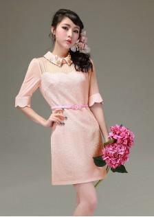 JNS5665 dress pink .