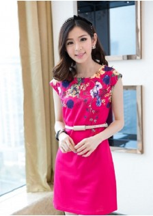 JNS8020 dress red