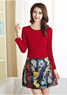 JNS6082 dress red