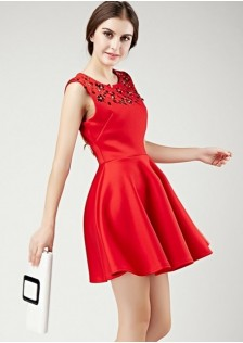 JNS9191 dress red