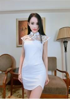 JNS1910 cheongsam white