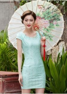 JNS1106 cheongsam green .