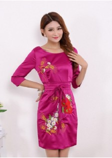JNS5673 cheongsam red
