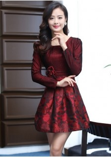JNS8719 dress red