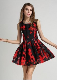 JNS1624 dress red