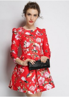 JNS2598 dress red