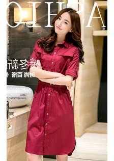 JNS8008 dress red
