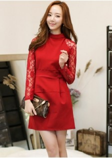 JNS1608 dress red