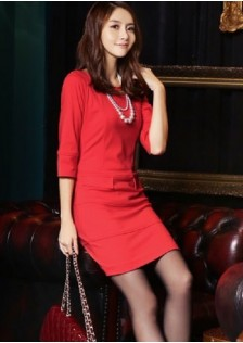 JNS1181 dress red
