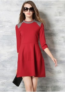 JNS5859 dress red
