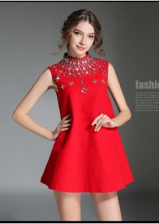 JNS5832 dress red