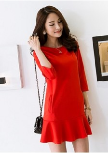 JNS906 dress red