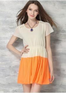 JNS6561 dress orange