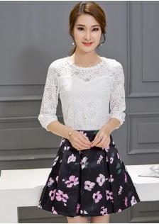 JNS1641 top+skirt