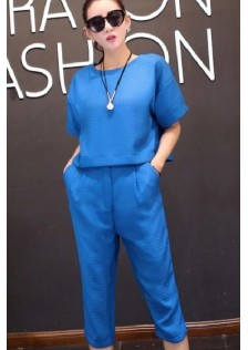 JNS6381 top+pants blue *