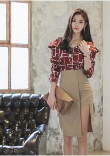 JNS262 top+skirt