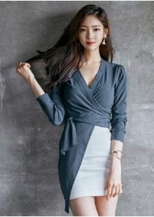 JNS308 top+skirt