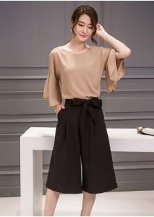 JNS5636 top+pants coffee