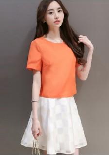 JNS502 top+skirt