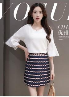 JNS6029 top+skirt