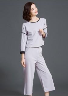 JNS918 top+pants gray