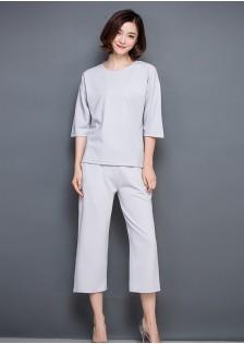 JNS515 top+pants gray