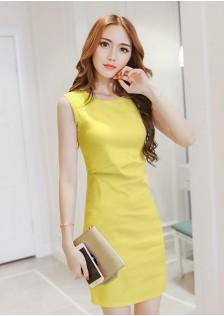 JNS5829 office-dress yellow