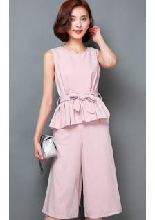JNS8909 top+pants pink