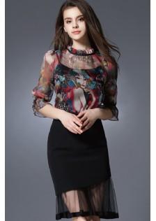 JNS5658 top+skirt