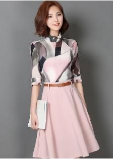 JNS9308 top+skirt pink