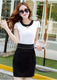 JNS3288 2pcs-dress black