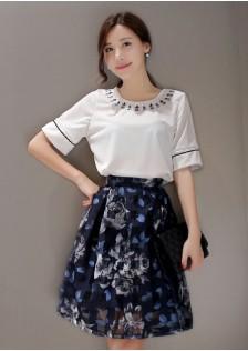 JNS8618 top+skirt