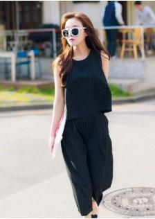 JNS6917 top+pants black