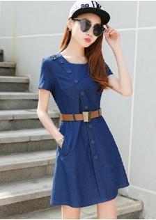 JNS1668 dress dark-blue