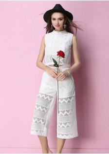 JNS132 top+pants white