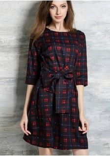 JNS5867 dress red